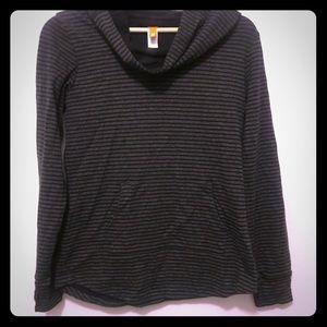 Lucy Cowl neck striped sweatshirt